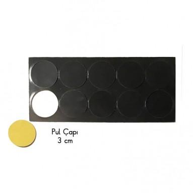 Pul Mıknatıs -3 cm (Yapışkanlı)