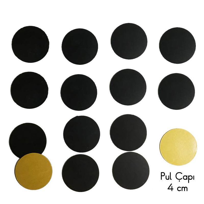 Pul Mıknatıs -4 cm (Yapışkanlı)